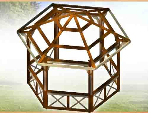 Построить пятиугольную беседку своими руками 94