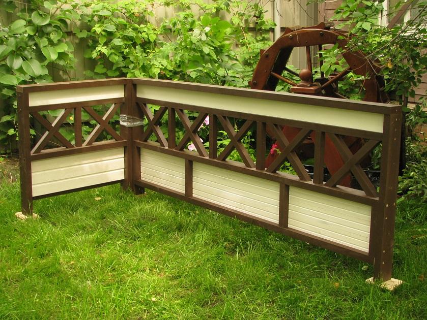 Деревянная ограда для террасы своими руками 60